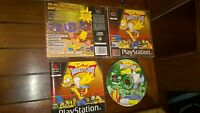 *THE SIMPSONS WRESTLING 2001 SONY Playstation PS1* Black label complete