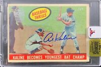 Al Kaline autographed signed on Card 2/2 Detroit Tigers Topps Archives