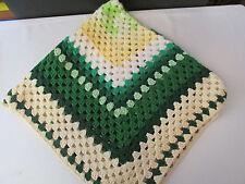 "Handmade Crochet Afghan Blanket Throw Fringed 40"" by 40"" Square"