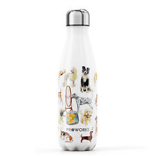 Proworks Stainless Steel Metal Dog's Tale Water Bottle - Perfect Dog Lovers Gift