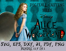 Alice in Wonderland Digital Cutting File SVG, eps, dxf, ai, pdf, png