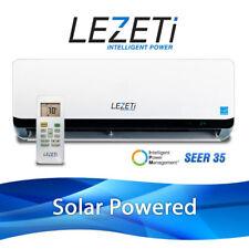LEZETI 11,500 BTU Ductless Mini Split SOLAR Air Conditioner & Heat Pump 35 SEER