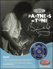 Queen band Brian May Celestion Blue guitar amp speakers ad 8 x 11 advertisement