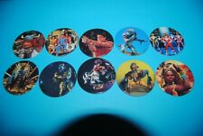 462 pogs pog caps milkcaps flippo : lot de 10 power rangers avimage