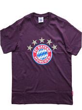 T - Shirt 5 Sterne Logo FC Bayern München bordeaux Größe S - 3 XL