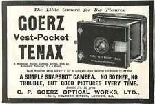 1909 Cp Goerz Optical Works Vest Pocket Tenax Ad