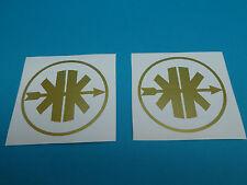 Kreidler Aufkleber Sticker Logo Emblem gold