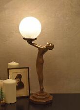 Bauhaus Tischleuchte Nachttischlampe Tischlampe Leuchte Frauenakt Kugelschirm