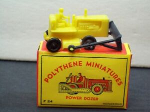Vintage Plastic Toy Bulldozer Wheel Loader Power Dozer Polythene Miniatures Box