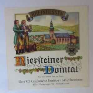 Weinetikett, Rheinhessen, Niersteiner Domtal, Steinheim am Main  ♥ (9328)