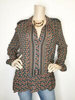 New Maeve Anthropologie Size 14 Lace Button Peplum Long Sleeve Tunic Blouse