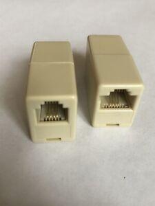 RJ11 6P4C to RJ45 8P4C Telephone Adapter Convertor Coupler Socket