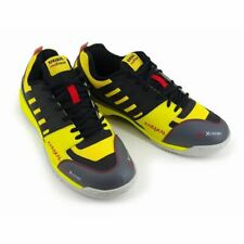 Karakal Unisex Pro Extreme Squash Racquetball Shoes in Yellow with Gum Sole