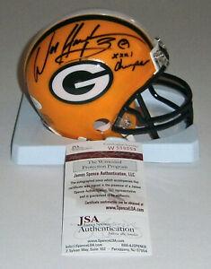 PACKERS William Henderson signed mini helmet w/ SB XXXI Champs JSA COA Autograph