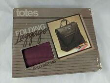 Vintage Totes Folding Luggage Shoulder Bag Nylon Maroon