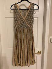 M Missoni metallic fit flare stripe Dress Size 8