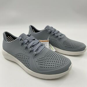 Crocs Men's LiteRide Pacer Shoes Breathable Sneaker Gray/Blue 204967-0ID Size 8