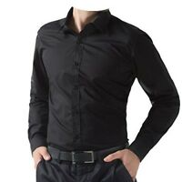 Mens black long sleeve smart casual shirt Size  Medium  NEW