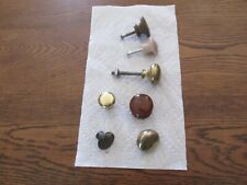 7 Wood & Brass Closet Knobs, Old to New