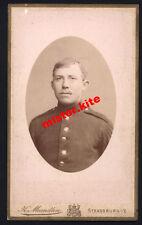 CDV-Vintage Photo Portrait-militär-K.Maendlen-Strassburg-Elsass