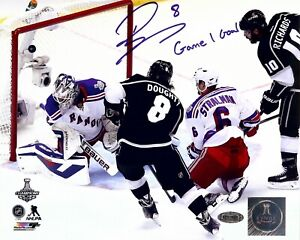 """Drew Doughty Autographed 8X10 Photo Kings """"Game 1 Goal"""" 2014 Cup Finals Steiner"""