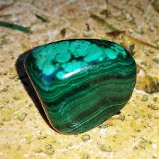 Malachit Trommelstein Malachite Edelsteine Nr.7 Entgiftung Mineraliensammlung