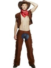 Cowboy Costume Gay Csd Stripteaseur de Cow-Boy Cuir Sauvage Look Homme Gr. M