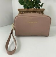 New Michael Kors Cosmetic Bag  Zip Top Mauve Promotional Item  M3