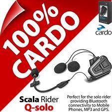Cardo Scala Rider Q-solo Bluetooth Motorcycle Helmet Headset for Calls GPS MP3