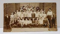 RPPC Early 1900's Williamsport MD Estate Children Class Real Photo Postcard B10