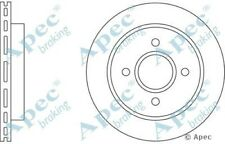 1x OE Quality Replacement Rear Axle Apec Vented Brake Disc 4 Stud 253mm - Single