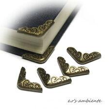 8 Stück wunderschöner Schutz-BUCHECKEN, Bronze-Vintage-Look, Bücherecken, 0412