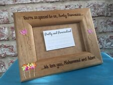"Personalised photo frame 6x4"" / 7x5"" Auntie Sister Mum Any Message Engraved"