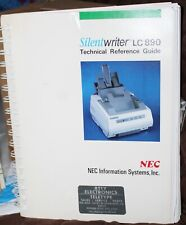 NEC Silentwriter LC-890 Technical Reference Guide