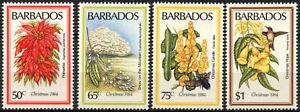 Barbados 1984 SG#759-762 Christmas Flowers MH Set #D98215