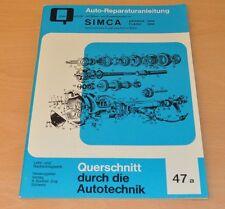SIMCA Aronde 1200 Flash 1300 Simca-Matic Reparaturanleitung B47 Handbuch neu