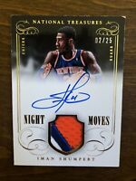 Iman Shumpert 2013-14 National Treasures Auto Game-Used Jersey Patch Gold 2/25