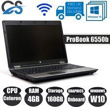 "HP Laptop ProBook 6550b 14"" INTEL CELERON 4GB RAM 250GB HDD Windows 10 Pro"