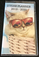 2 Year Planner 2019 - 2020 Cat Monthly Pocket Calendar Hollywood Sunglasses Two