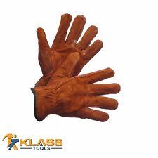 Brown Suede Leather Working Gloves  (1 Pair) by KlassTools