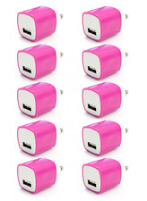 10x 1A Pink USB Wall Charger Plug Home Power Adapter FOR iPhone 5 6 Samsung