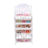 Doll Shoes Rack Shoes Shelf Accessory for  Playset Kids Gift