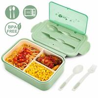 Lunch Box, Leakproof Bento Box for Kids Adults, Food Container with 3