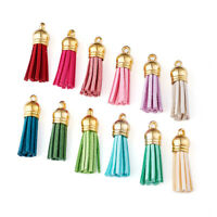 100pcs Tassel Pendant Decorations & Cord Ends For Keychain Phone Straps 35~37mm