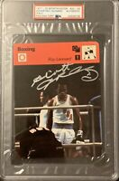 1977 - 1979 SPORTSCASTER SUGAR RAY LEONARD AUTO RC ROOKIE OLYMPIC PSA DNA SIGNED