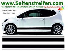 VW Up Seitenstreifen Aufkleber Komplett Set / passt auf 2 + 4 Türer Nr.: 8536