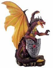 Armored Dragon with Wings Statue (2361) New 7.75 Inches Tall