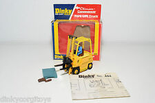 DINKY TOYS 404 CLIMAX CONVEYANCER FORK LIFT TRUCK MINT BOXED RARE SELTEN