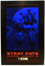 The STRAY CATS Fillmore West Poster (Jan 28th 1989) Rock & Roll
