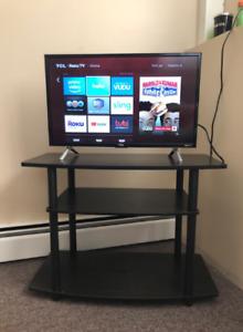 Turn-N-Tube No Tools 3-Tier TV Stands, Dark Brown/Black, Used
